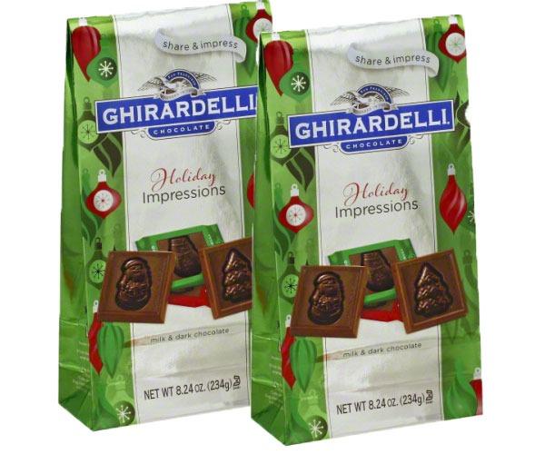 GHIRARDELLI HOLIDAY IMPRESSIONS CHOCOLATE MILK AND DARK