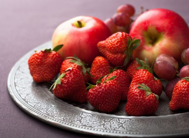Apples and strawberries