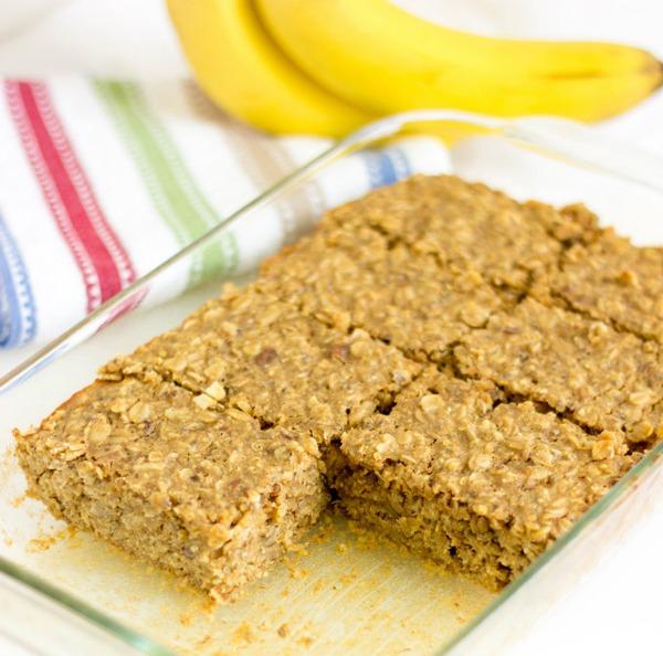 High Protein Vegetarian Meals Banana Nut Quinoa Bars