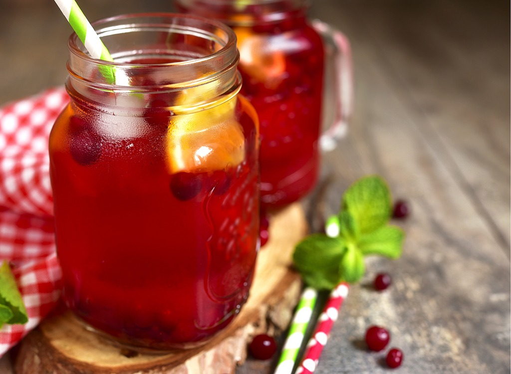 fruit juice mason jar
