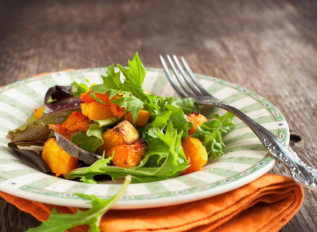 pumpkin salad avoid these veggies flat happy belly