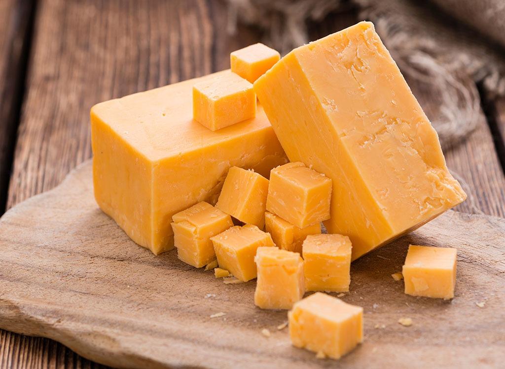 Orange cheddar cheese
