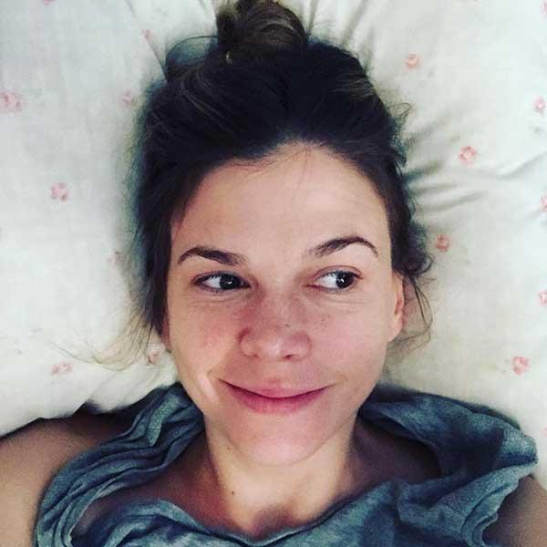 Sutton Foster in bed