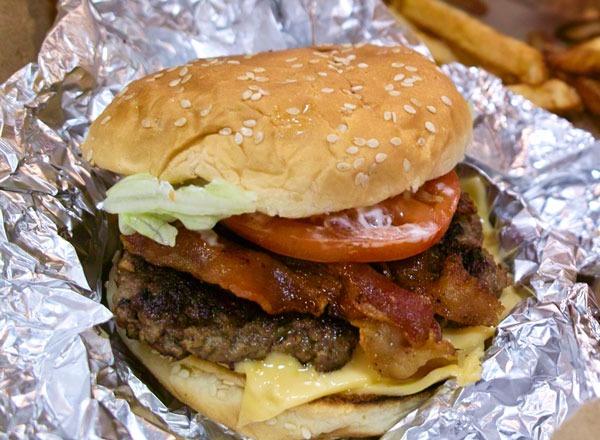 Fast food burgers ranked Five Guys Bacon Cheeseburger