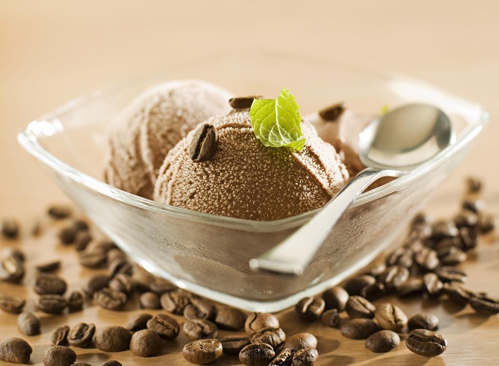 bowl of coffee ice cream