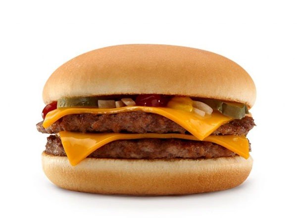 Fast food burgers ranked double patties