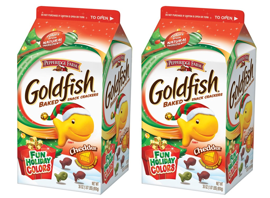 goldfish fun holiday colors baked cheddar crackers