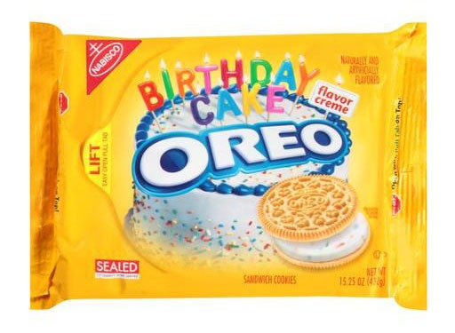 Oreo Golden Birthday Cake