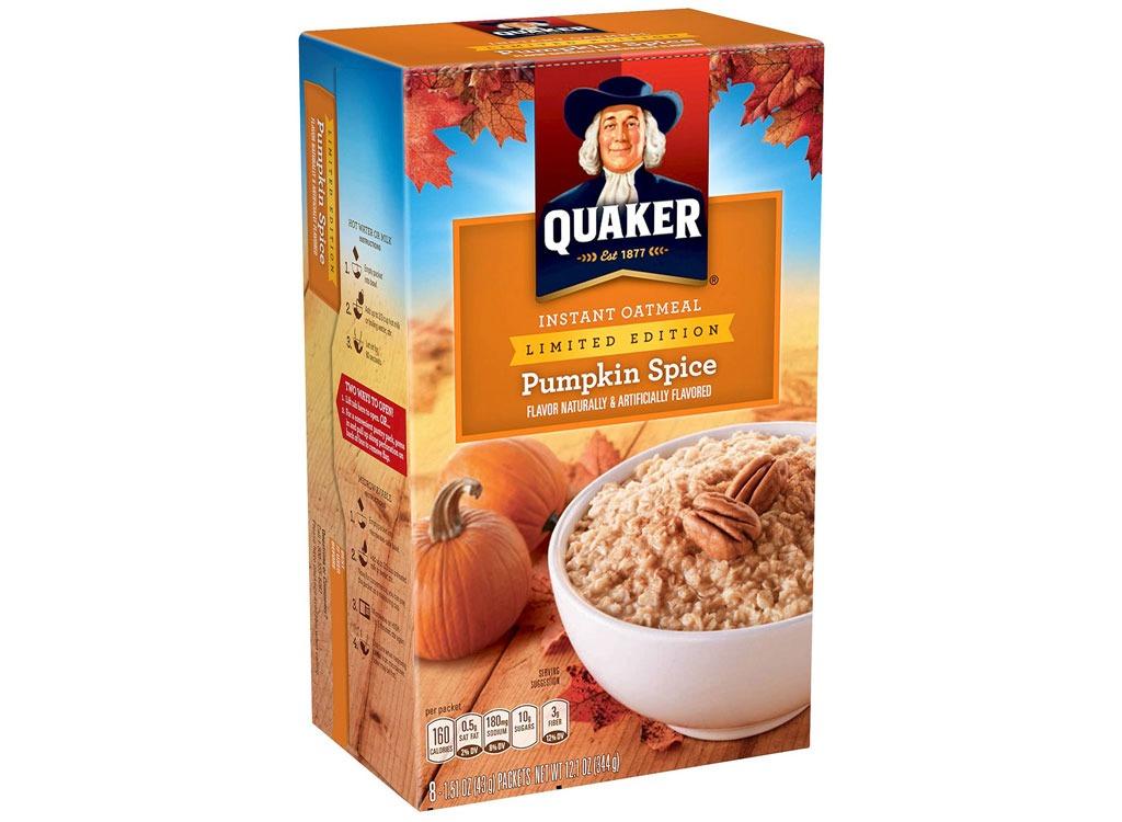 instant oatmeal pumpkin quaker