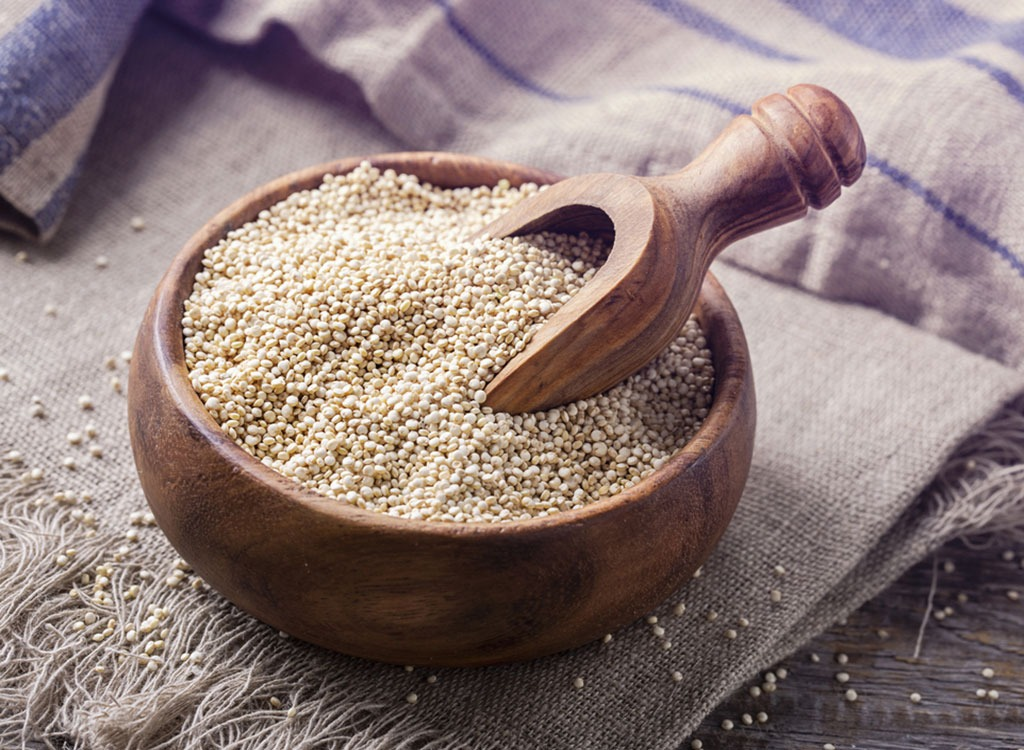 Quinoa in bowl - foods for energy