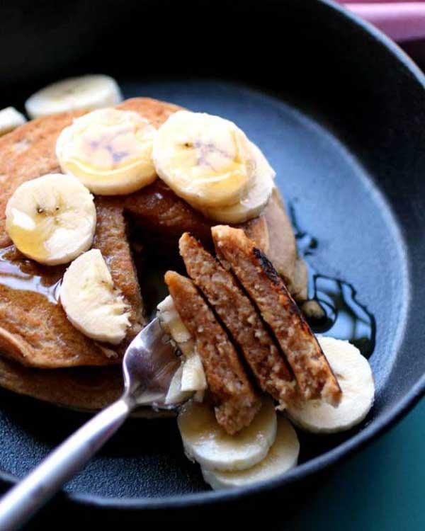 peanut butter cookie pancakes - pb2