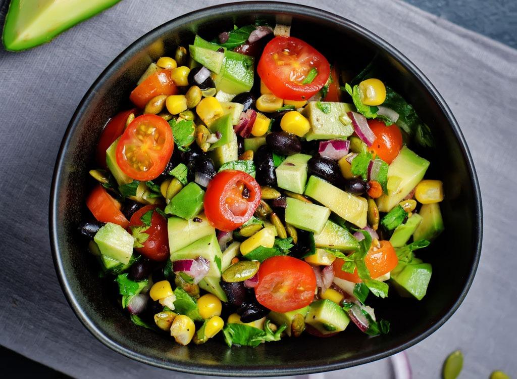 black bean corn tomato salad