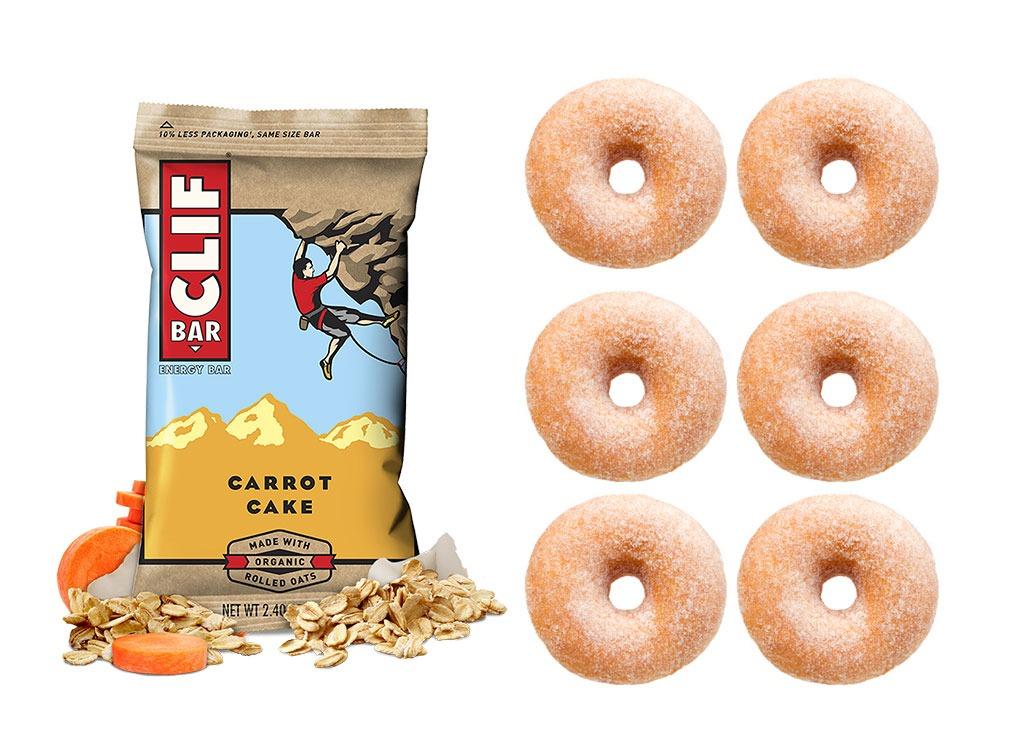 Foods worse than donut energy bar