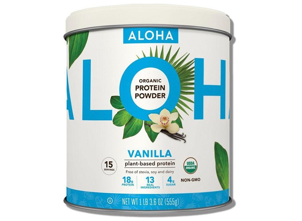 Aloha vanilla plant protein powder