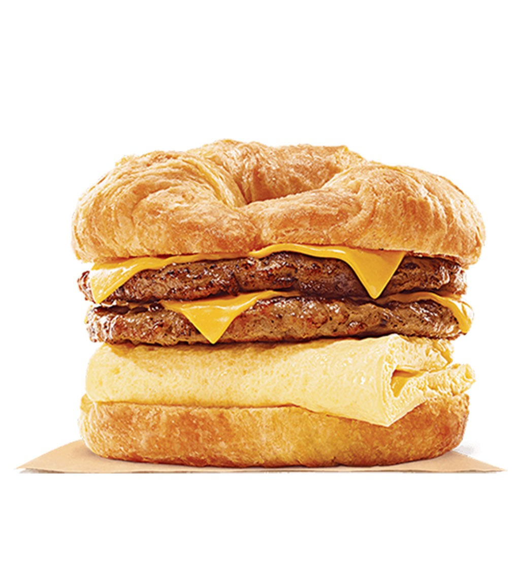 burker king king croissanwich with double sausage