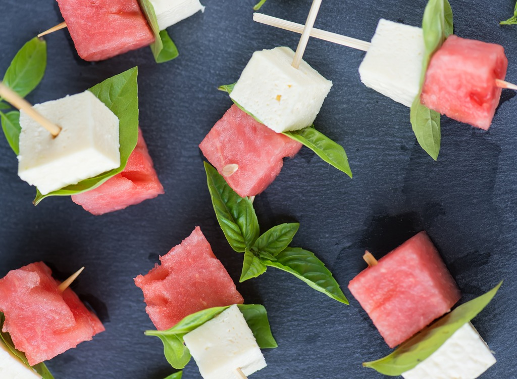 watermelon skewers snack